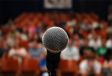Public Speaking with a microphone